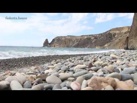 Яшмовый пляж на мысе Фиолент, Севастополь, Крым, Россия