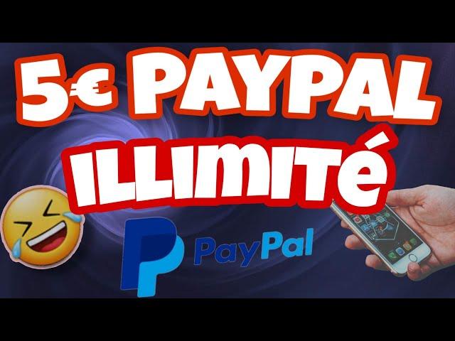 gagner 5 euros à illimité sur paypal avec son telephone argent facile