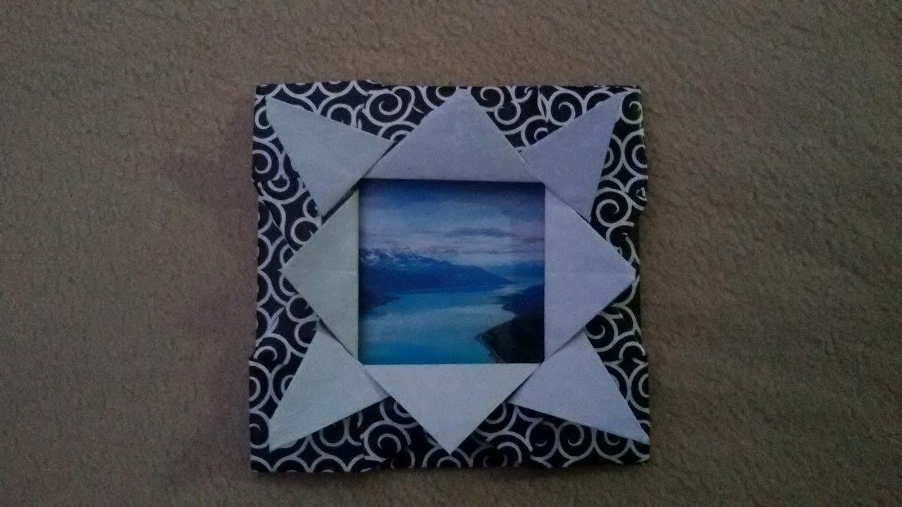 Origami Tutorial Frame - Marco de Fotos de Papel - YouTube