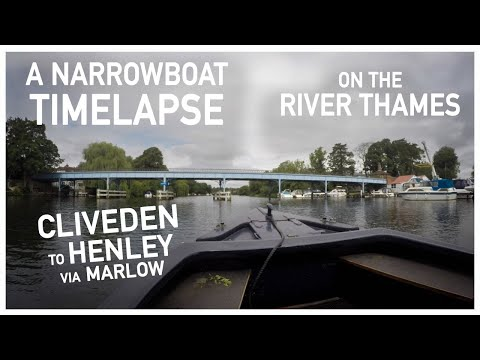 013.03 - Cliveden To Henley Via Marlow     A Narrowboat Time-Lapse On The River Thames