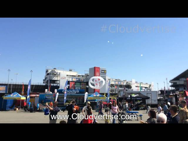 Richmond International Raceway Nascar #Cloudvertise Toyota 3D Bubble Clouds