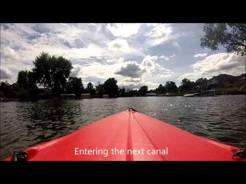 Kayking Cedar Island Lake, White Lake Township, Oakland County, MI [HD] 29 min
