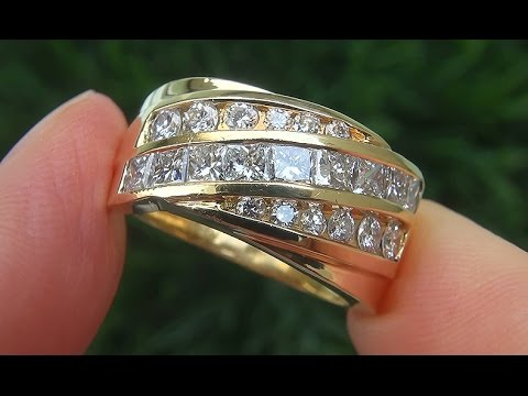 estate-vs1/f-natural-diamond-engagement-cocktail-18k-yellow-gold-ring---c717