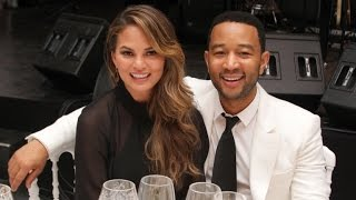 Chrissy Teigen and John Legend Take Their Daughter Luna (And a Baby Decoy!) to the NBA Finals