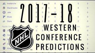 2017-18 NHL WESTERN CONFERENCE STANDINGS PREDICTION!
