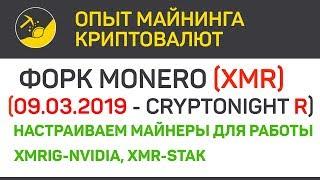 Форк Monero (XMR) настройка майнеров (algo CN R)   Выпуск 187   Опыт майнинга криптовалют