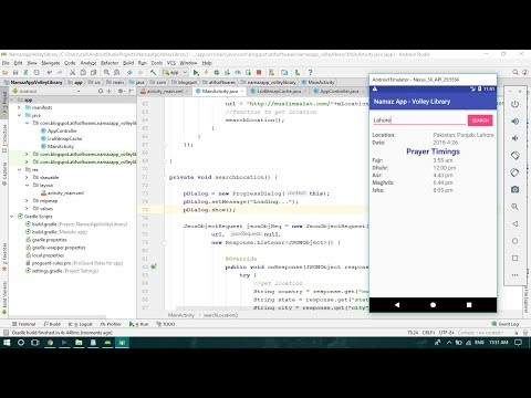 Prayer Timings App Using Volley Library - Android Studio Tutorial