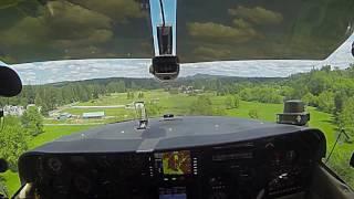 Real short field  landing Cessna 182