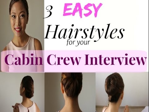 Easy Hairstyles For Your Cabin Crew Interview