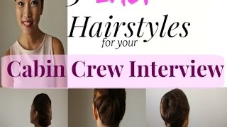 Easy Hairstyles For Your Cabin Crew Interview | MISSKAYKRIZZ