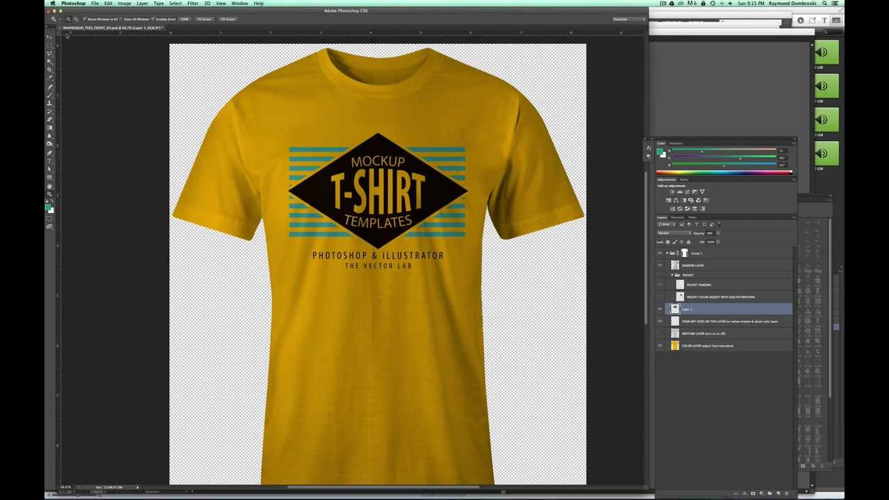 01f86e9e6 Mockup a T-Shirt Design in Photoshop so it Looks Real - YouTube
