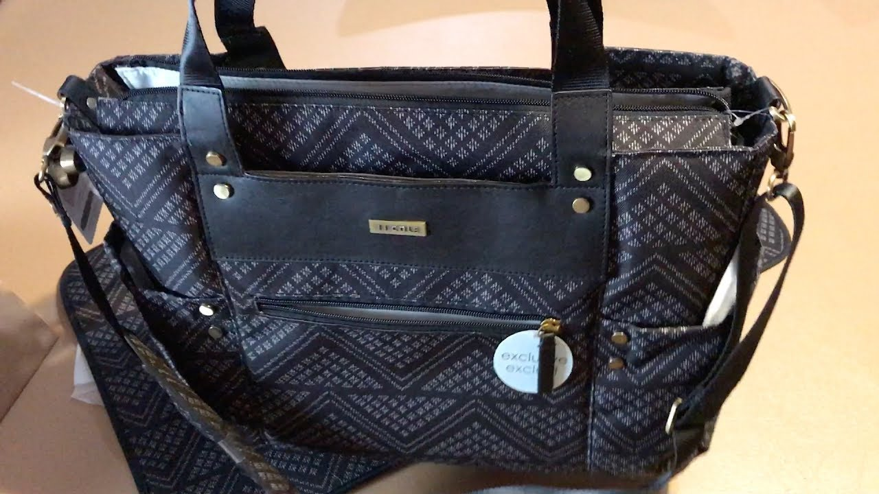 a closer look on jj cole arrington diaper bag black aztec youtube. Black Bedroom Furniture Sets. Home Design Ideas