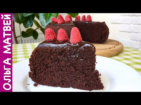 Очень Простой Шоколадный Торт на Раз, Два, Три | How to Make Easy Chocolate Cake, English Subtitles - Простые вкусные домашние видео рецепты блюд