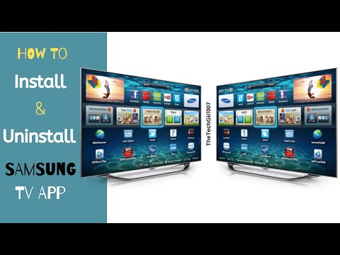 How to Install and uninstall Samsung Smart TV App
