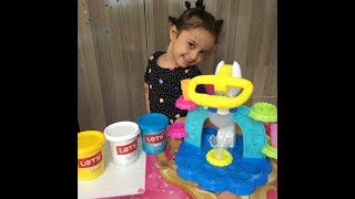 playdoh dondurma dükkanı ile dondurma yaptık:) eğlenceli çocuk videosu