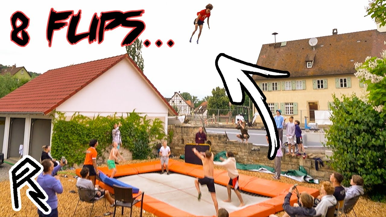 He Tried The World Record of Flips (Nonuple)