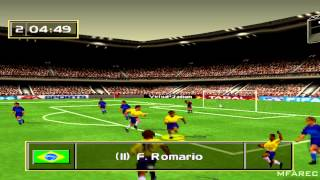 FIFA Soccer 96 Gameplay Friendly Match (PlayStation)