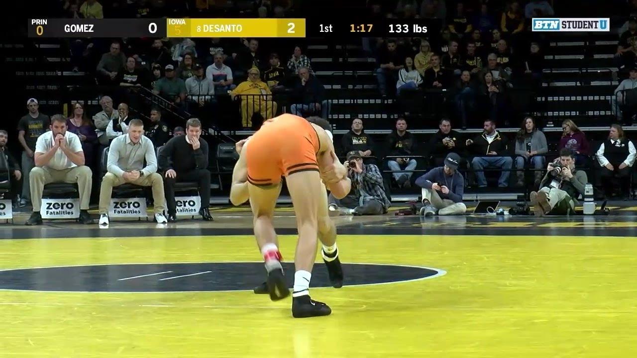 133 Pounds: Jonathan Gomez (Princeton) vs. #11 Austin DeSanto (Iowa)
