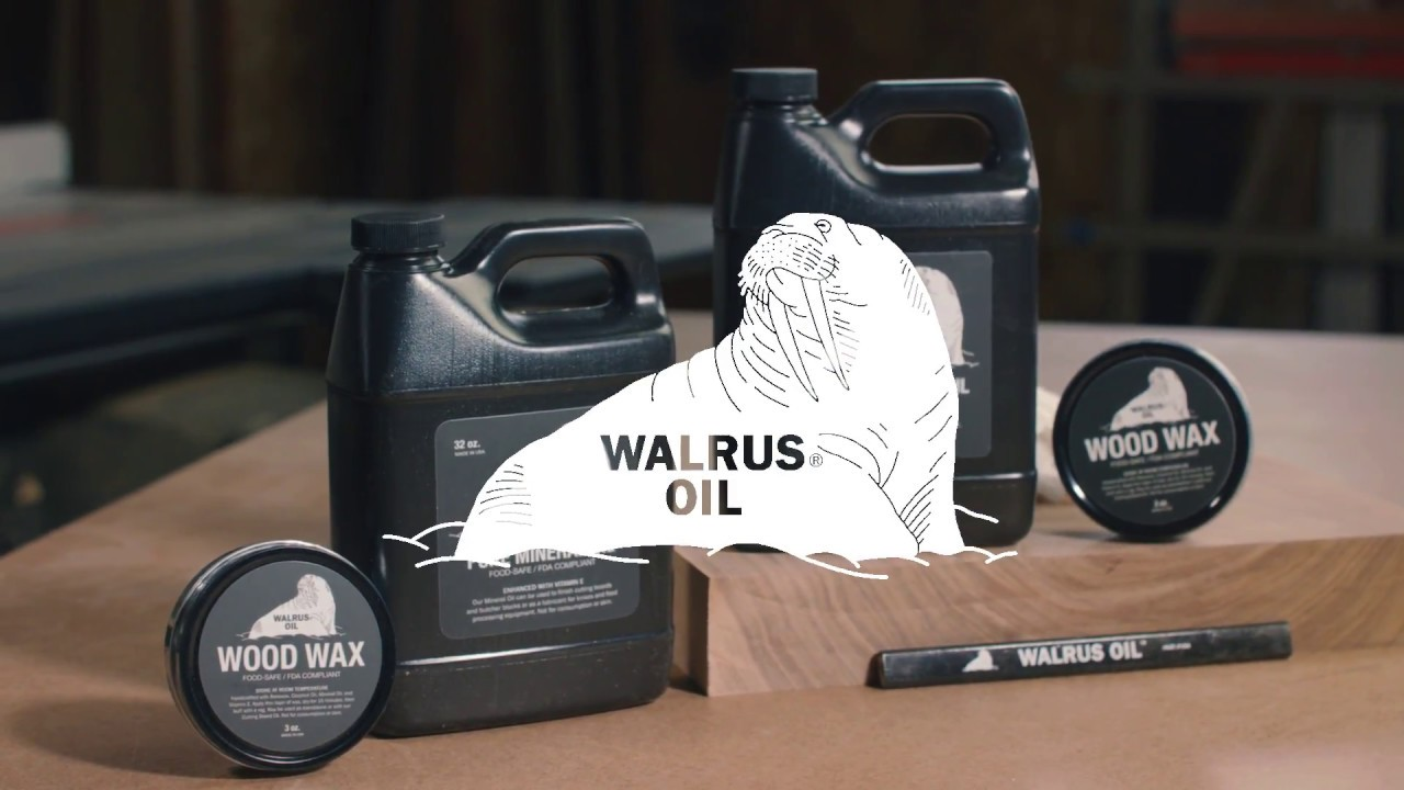 Walrus Oil Cutting Board Oil Pure Mineral Oil And Wood Wax Youtube