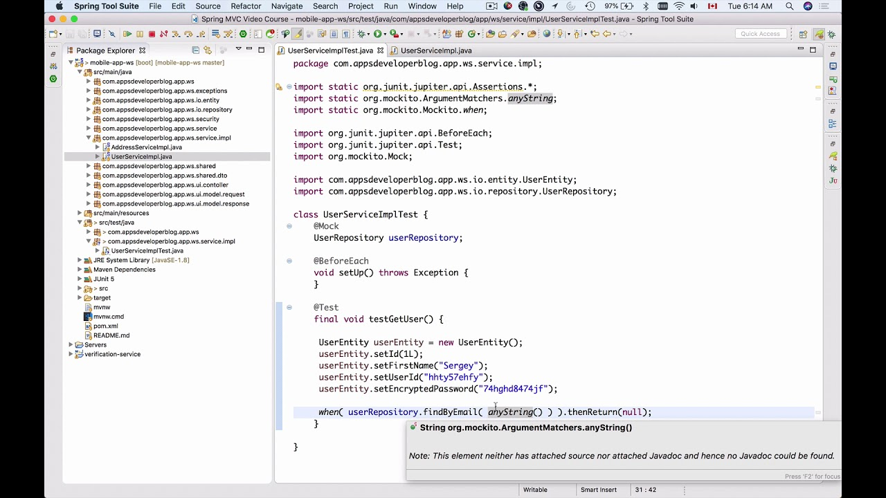 Testing RESTful Web Services -2- Mocking a JPA Repository with Mockito in  JUnit 5 test