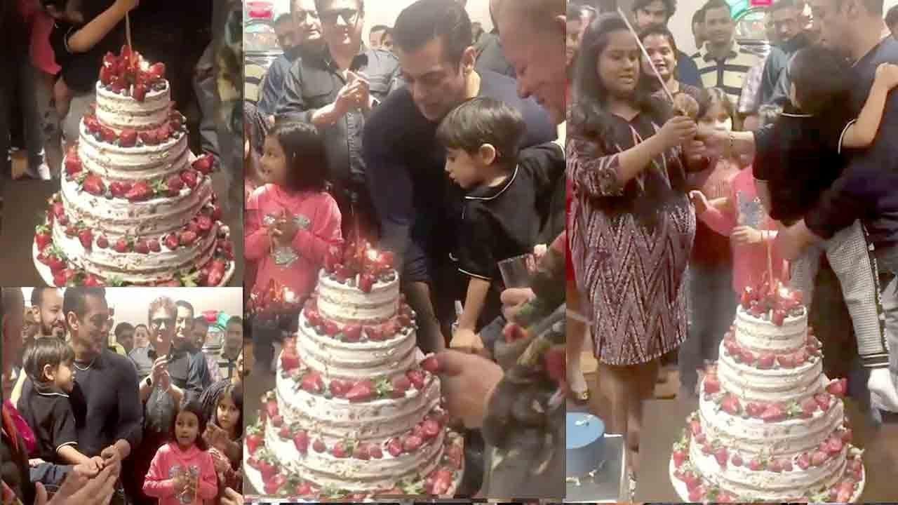Salman Khan The Biggest Superstar Cuts His 54th BIRTHDAY Cake Wid Nephew Ahil | lNSlDE Video