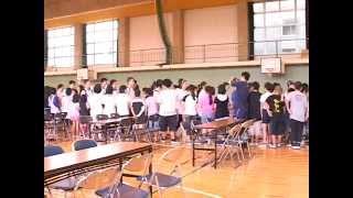 平成22年碧水小学校で国際文化交流
