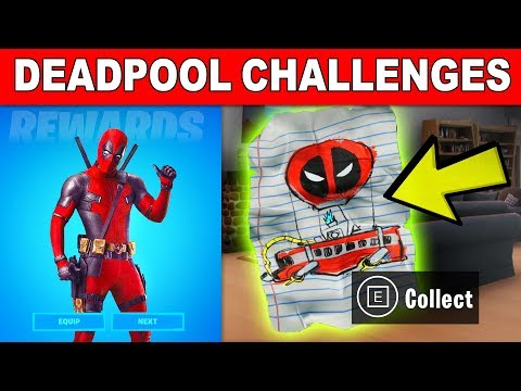 Find Deadpool's Letter To Epic Games - All Deadpool Challenges Guide Week 1 (Fortnite)
