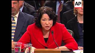 In an exchange with Republican Sen. Jeff Sessions Tuesday, Supreme Court nominee Sonia Sotomayor vow Free HD Video