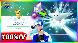 100%IV SHINY CATERPIE + 100%IV TOGEKISS EVOLUTION MAXED OUT in Pokemon Go!