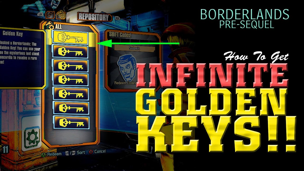 INFINITE Golden Keys Glitch - Borderlands Pre-Sequel - YouTube Borderlands The Pre Sequel Shift Codes