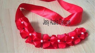 Ribbon weaving technique .It can be used to make dress,headband,dol...