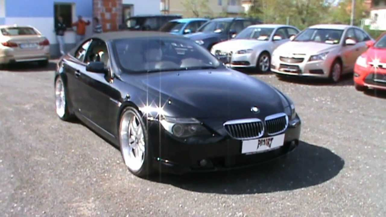 BMW Ci With Custom Exhaust And Inch Rims YouTube - 2004 bmw 645ci convertible for sale