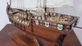 """Carabela """"La Niña"""", Model Ship"""
