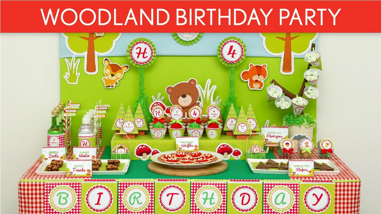 Woodland Party Decorations