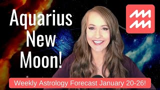 NEW MOON in AQUARIUS! REVOLUTIONARY New Beginnings! Weekly Astrology Forecast for ALL 12 SIGNS!