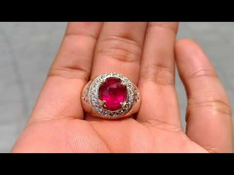 Batu Cincin Permata Ruby Merah Delima Asli (kode:735)