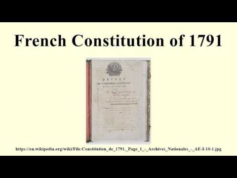 French Constitution of 1791