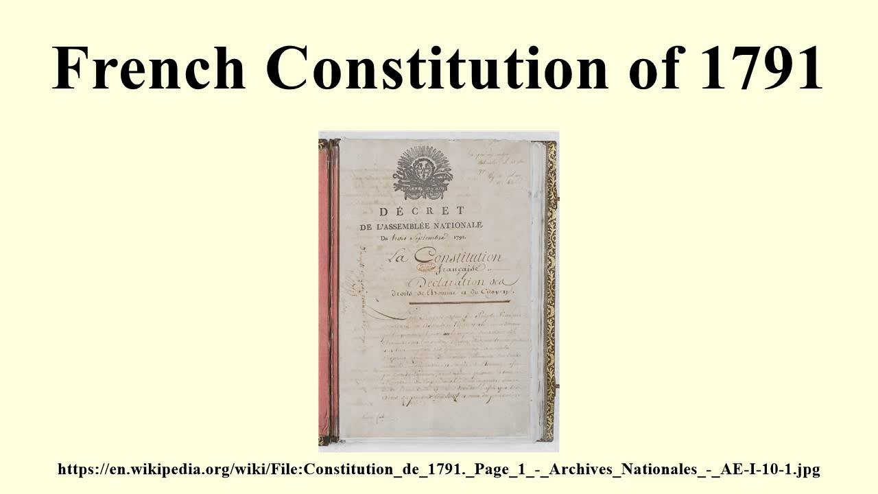FRENCH CONSTITUTION OF 1791 DOWNLOAD