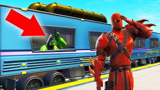 I Was HIDING In A TRAIN! (Fortnite Hide And Seek)