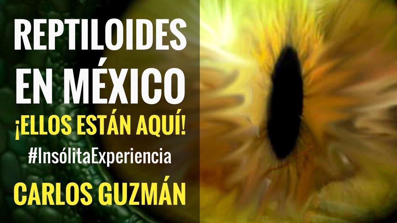 ¿REPTILIANOS EN MÉXICO? Ellos ya están entre nosotros: CARLOS GUZMÁN. #InsólitaExperiencia