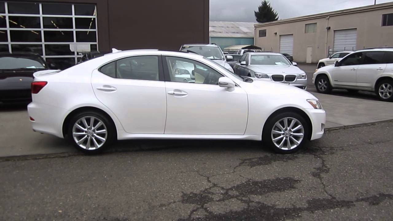 2009 lexus is250 white stock 029095 walk around
