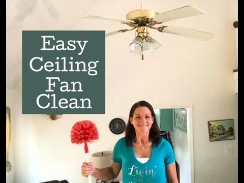 Ceiling fan cleaing | How to clean your ceiling fan without a ladder.