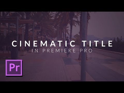 How To Create a Beautiful Cinematic Title Animation in Premiere Pro