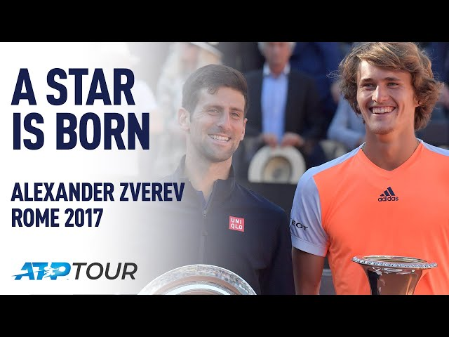 Alexander Zverev Stars In Rome 2017 | A STAR IS BORN | ATP
