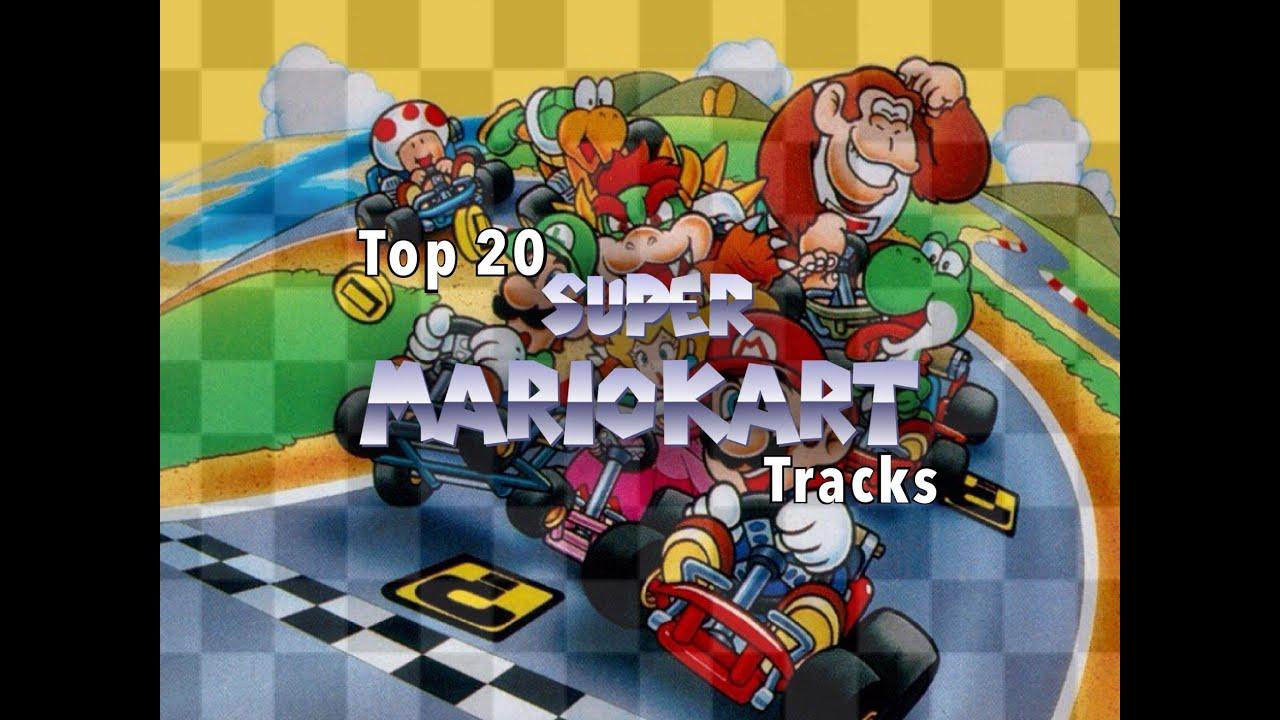top 20 super mario kart tracks youtube