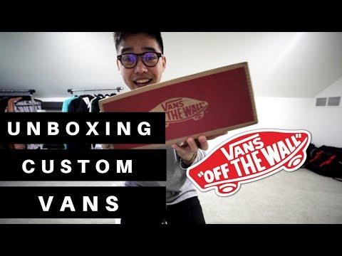 UNBOXING CUSTOM VANS + REVIEW