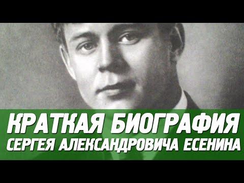Биография Есенина Сергея Александровича. Краткая.