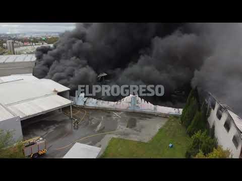 Las llamas en O Ceao a vuelo de dron