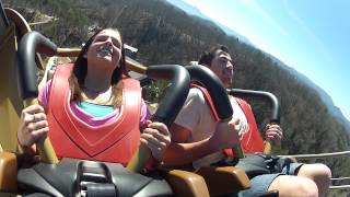 Wild Eagle Rider POV & Off-Ride Shots - Dollywood 2012 Roller Coaster