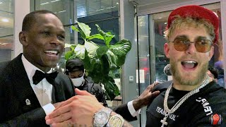 ISRAEL ADESANYA SHOWS JAKE PAUL MAD RESPECT FOR KO OF NATE ROBINSON; CONGRATULATES HIM AFTER FIGHT